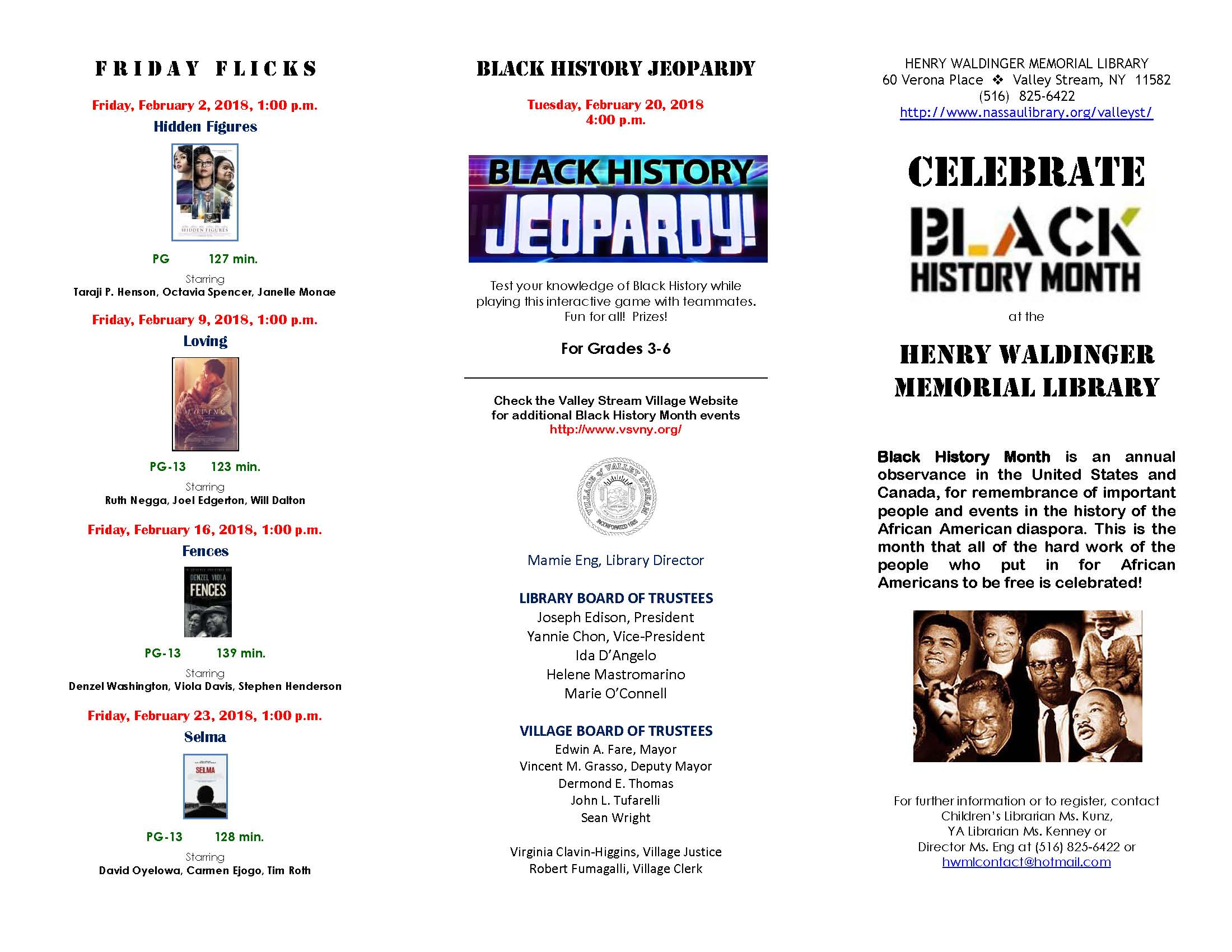 Village of valley stream click the images below to see the full calendar of events for the henry waldinger memorial library xflitez Images